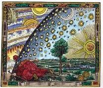 L'uomo in vesti di pellegrino alla ricerca di nuovi orizzonti.Incisione tedesca del XVI°sec
